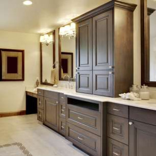 Custom cabinet installation for your bathroom remodeling job in Hickory, NC